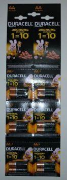 Батарейка Duracell LR-6 MN1500 1х12шт (2x6шт отрывная) /12/120/