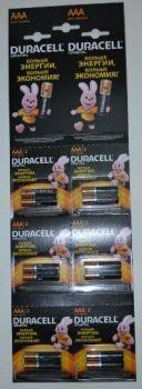 Батарейка Duracell LR-03 MN2400 1х12шт (2x6шт отрывная) /12/120/