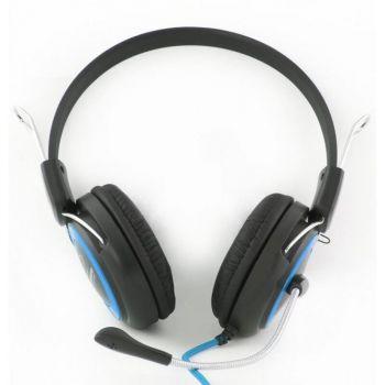 Наушники+микрофон Esperanza FALCON EH-152B black-blue /1/