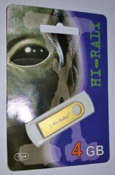 Флеш-драйв 4Gb Hi-Rali Shuttle Gold /1/