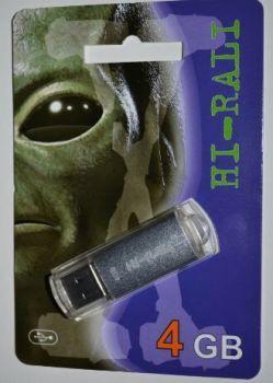 Флеш-драйв 4Gb Hi-Rali Rocket Silver