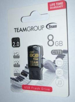 Флеш-драйв 8Gb TEAM C171 Black /1/