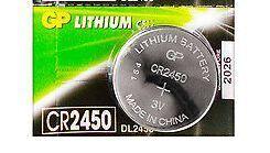 Батарейка GP CR-2450 Lithium 1х5шт /1/5/