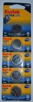 Батарейка KODAK Ultra CR-2025 Lithium 1x5шт /1/5/60/