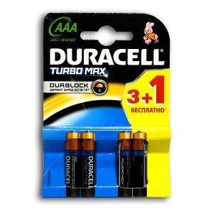 Бат Duracell Turbo LR-03 МХ2400 (3+1) блистер 1х4шт /4/40/