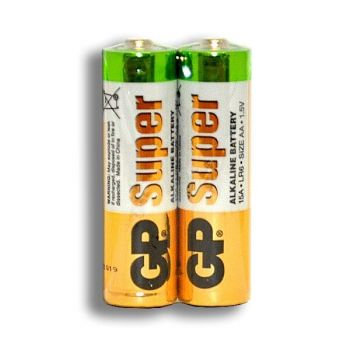 Батарейка GP Super Alkaline LR-6 коробка 1х2шт /2/40/1000/