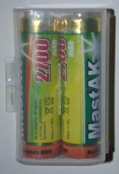 Акк Mastak НR-6 2700mAh Ni-MH коробка 1х2шт + бокс /2/
