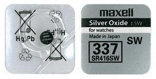 Час Maxell 337 (SR-416SW) AG0 1х1шт /1/10/