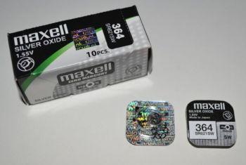 Часовая батарейка Maxell 364 (SR-621SW, SR-60) AG1 1х1шт /1/10/