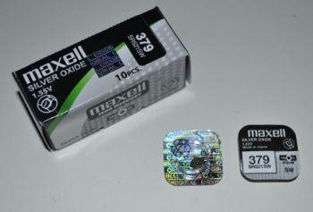 Часовая батарейка Maxell 379 (SR-521SW, SR-63) AG0 1х1шт /1/10/