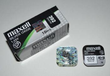 Часовая батарейка Maxell 392 (SR-41W, SR-41) AG3 1х1шт /1/10шт.