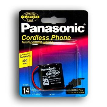 Акк PANASONIC P-P305 (2*2/3AA) 300mAh 2,4V Ni-Сd + контакты UP