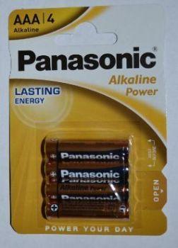 Батарейки PANASONIC Alkaline Power LR-03 блистер 1х4шт /4/48/240/