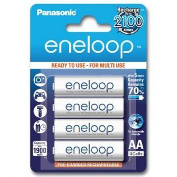 Аккумуляторы PANASONIC Eneloop НR-6 1900mAh Ni-MH блистер 1х4шт
