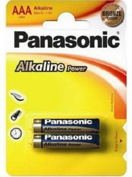 Бат PANASONIC Alkaline Power LR-03 блистер 1х2шт /2/24/120/