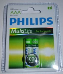Акк Philips НR-03 1000mAh Ni-MH блистер 1х2шт /2/24/