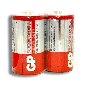Бат GP R-20 (красная) коробка 1х2шт /2/20/