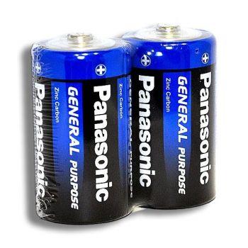 Батарейка PANASONIC General R-20 коробка 1х2шт /2/24/288/