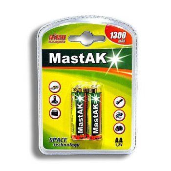 Акк Mastak НR-6 1300mAh Ni-MH блистер 1х2шт /2/20/