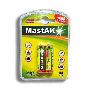 Акк Mastak НR-6 1800mAh Ni-MH блистер 1х2шт /2/20/