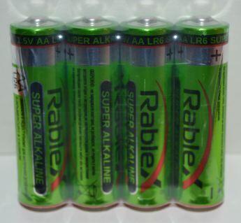 Батарейка Rablex LR-6 коробка 1x4шт /4/40/
