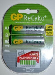 Аккумулятор GP Recyko НR-6 2100mAh Ni-MH блистер 1х2шт