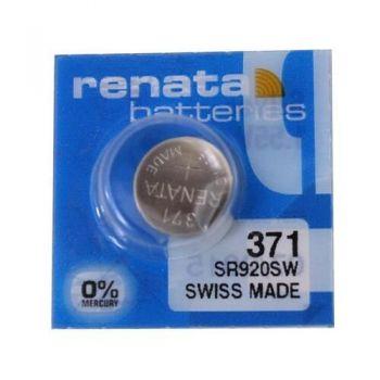 Часовая батарейка Renata 371 (SR-920SW, SR-69) AG6 блистер 1х10шт /1/10/100/