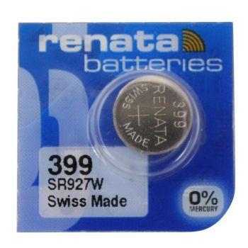 Часовая батарейка Renata 399 (SR-927W, SR-57) блистер 1х10шт /1/10/