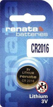 Батарейка Renata СR-2016 Lithium 1х1шт /1/10/100/