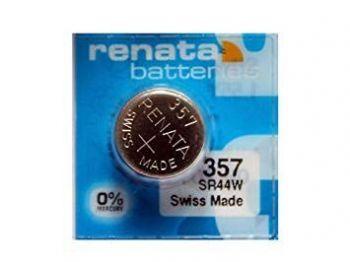 Часовая батарейка Renata 357 (SR-44W, SR-44) AG13 блистер 1х10шт /1/10/