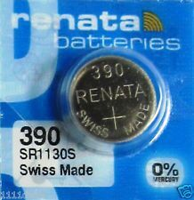Часовая батарейка Renata 390 (SR-1130SW, SR-54) AG10 блистер 1х10шт /1/10/