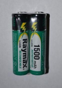 Акк RAYMAX 18650 1500mAh 3,7V Li-ion коробка 1х2шт /2/