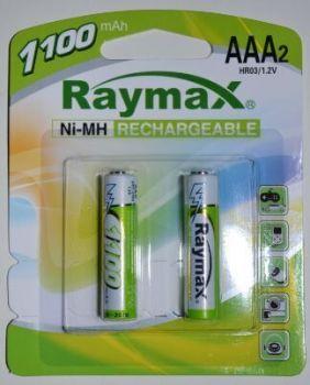 Акк RAYMAX HR-03 1100mAh Ni-MH блистер 1х2шт /2/24/