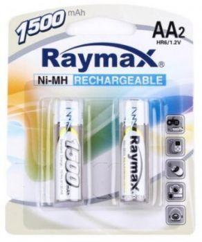 Акк RAYMAX HR-6 1500mAh Ni-MH блистер 1х2шт /2/24/