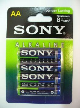 Бат SONY Alkaline LR-6 блистер 1х4шт /4/48/192/