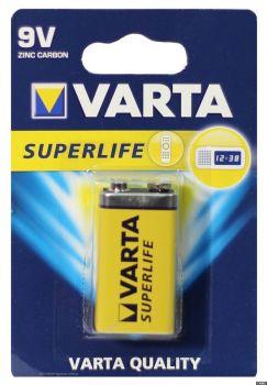 Батарейка VARTA Superlife 6F22 (крона) блистер 1х1шт /1/10/
