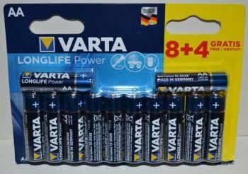 Батареки VARTA Longlife Power LR-6 блистер 1х12шт