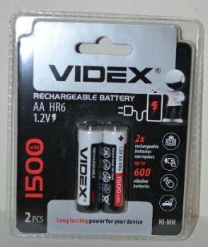 Аккумулятор Videx НR-6 1500mAh Ni-MH блистер 1х2шт /2/20/