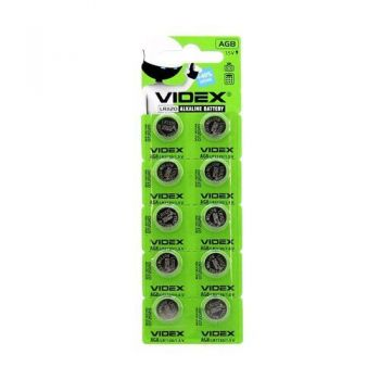 Часовая батарейка Videx AG8 (LR1120) блистер 1х10шт /2/10/100/