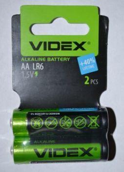 Батарейки Videx LR-6 блистер 1х2шт /2/60шт.